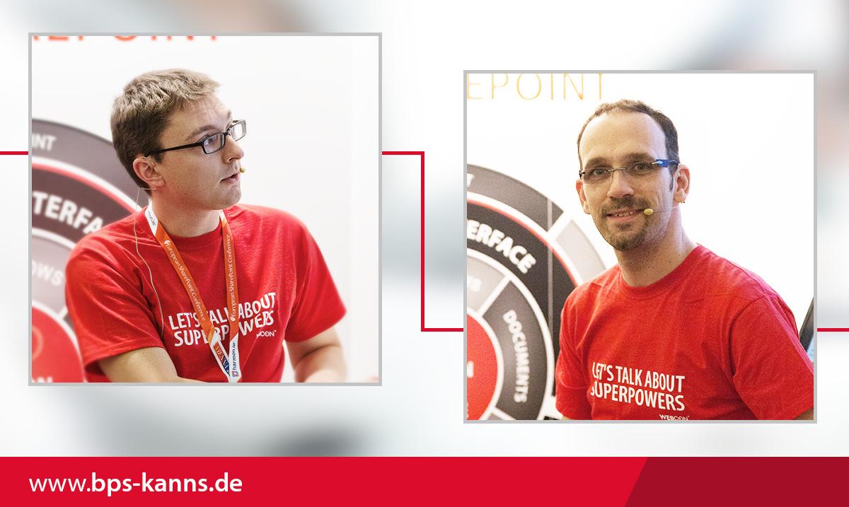 Wir beide in Wien auf der ESPC am WEBCON-Stand